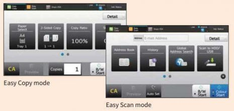 Sharp MFP Easy to use interface