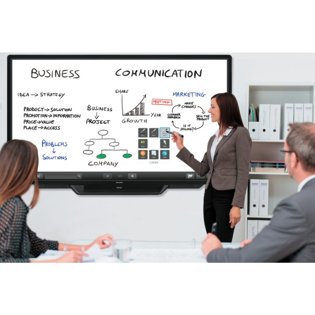 Sharp PN80TC3 Interactive Whiteboard Digital Business
