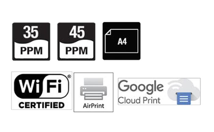 Sharp MX-B350P/MX-450P product icons